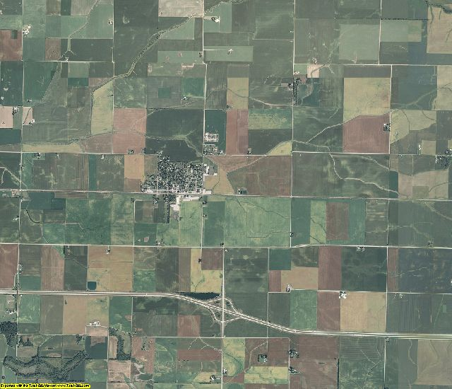 Macon County, Illinois aerial photography