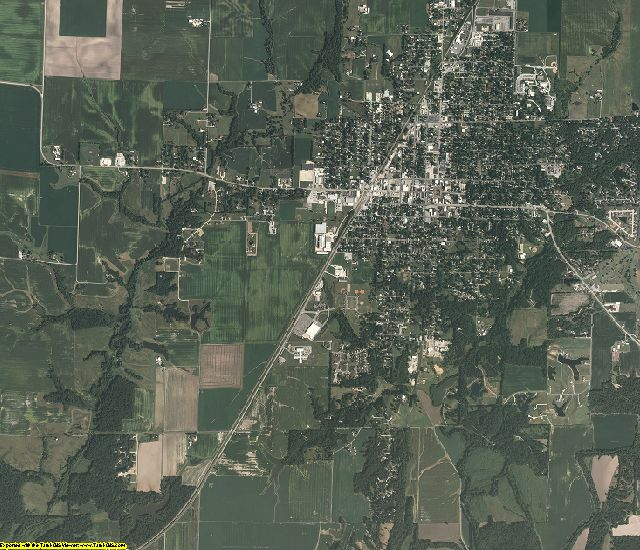 Macoupin County, Illinois aerial photography