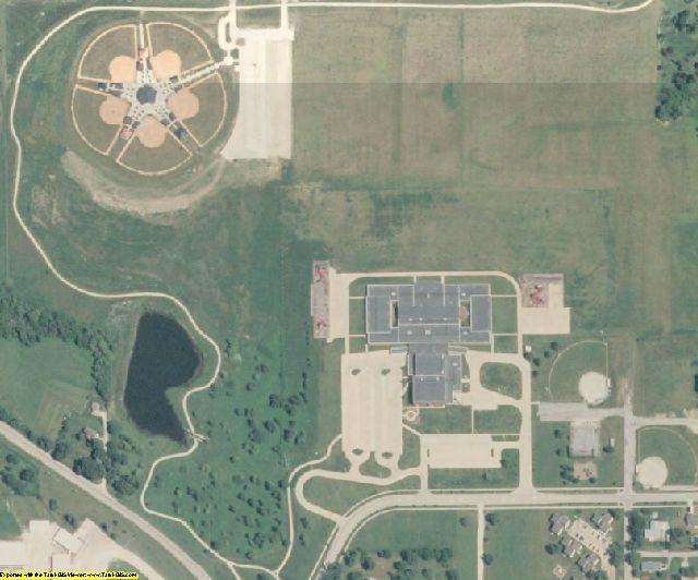 Mahaska County, IA aerial photography detail