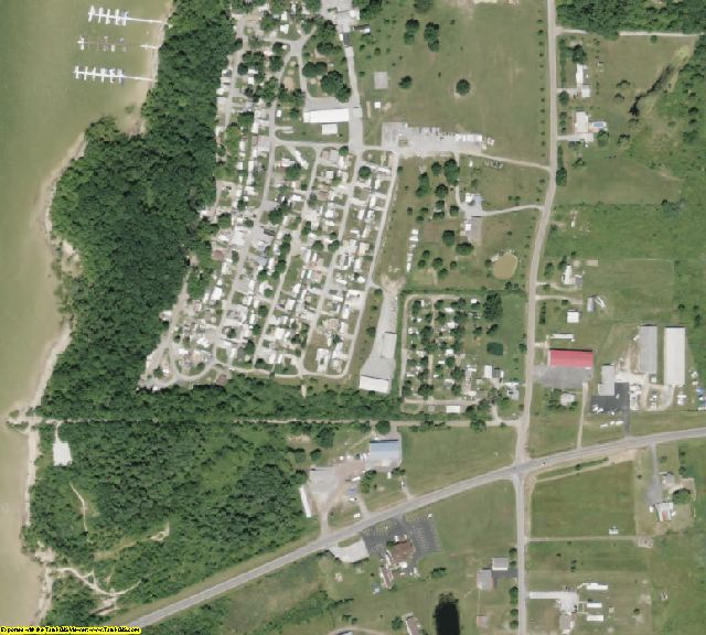 Mahoning County, OH aerial photography detail