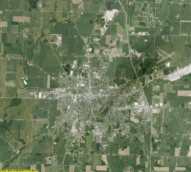 Marion County, Ohio aerial photography