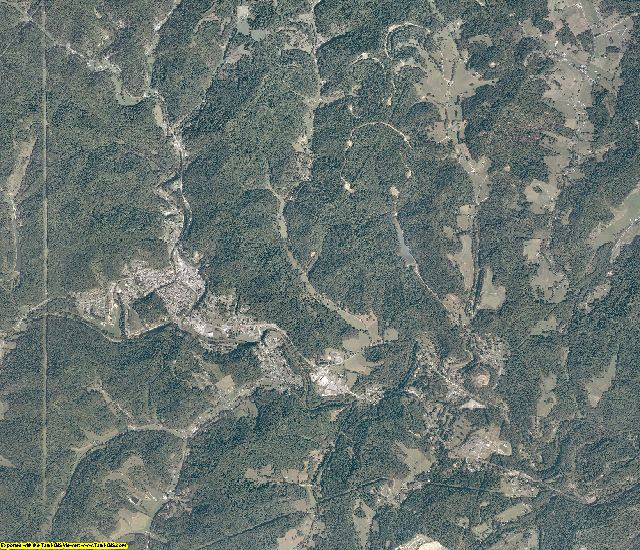 Marion County, West Virginia aerial photography