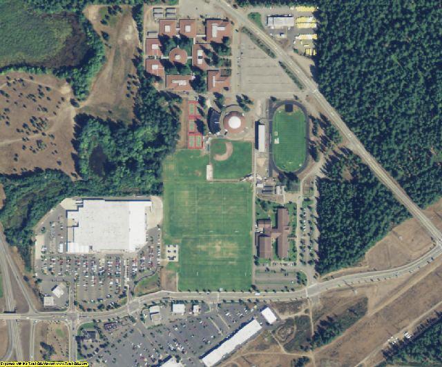 Mason County, WA aerial photography detail