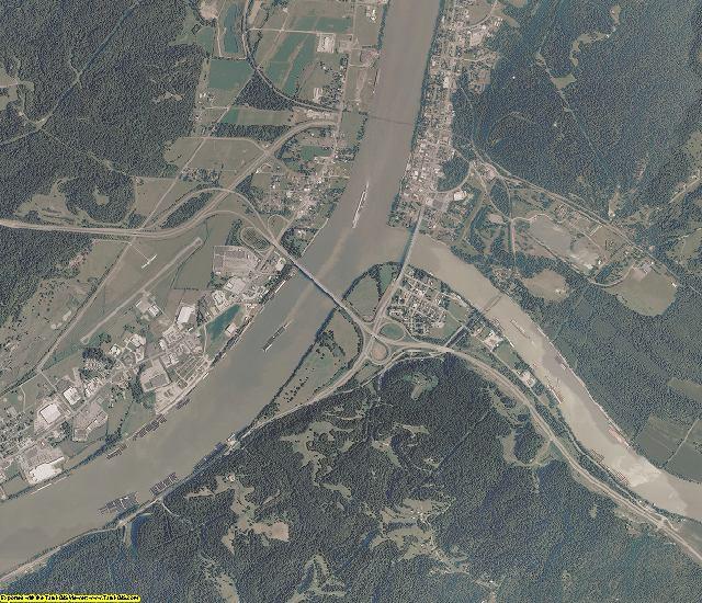 Mason County, West Virginia aerial photography
