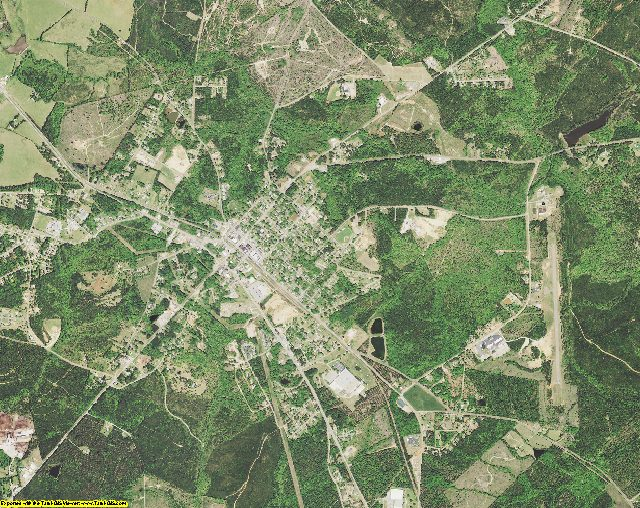 McCormick County, South Carolina aerial photography