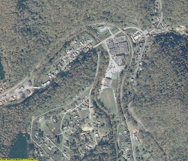 McDowell County, WV aerial photography detail