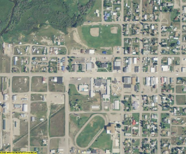 Meagher County, MT aerial photography detail