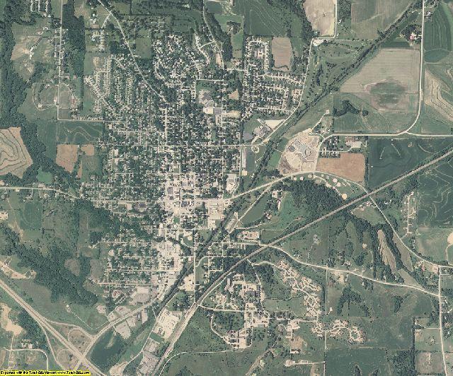 Mills County, Iowa aerial photography