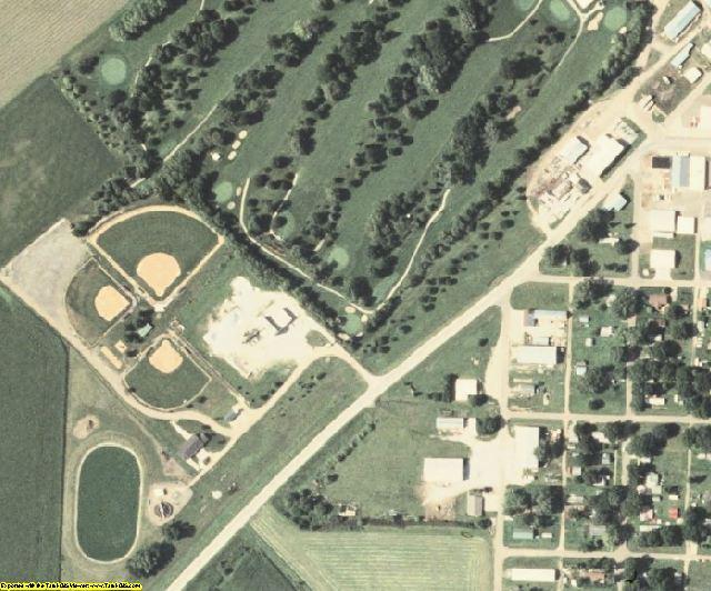Monona County, IA aerial photography detail