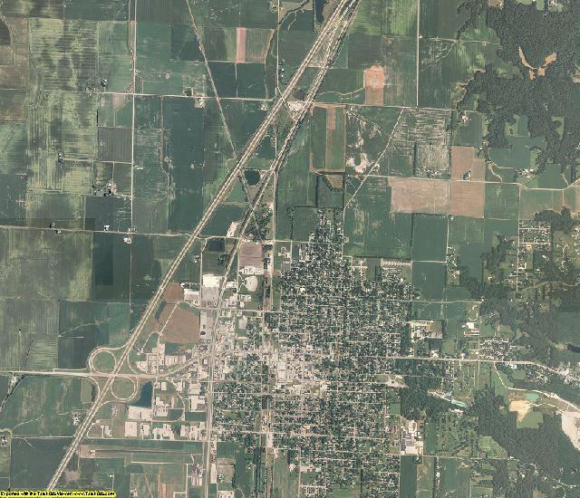 Montgomery County, Illinois aerial photography