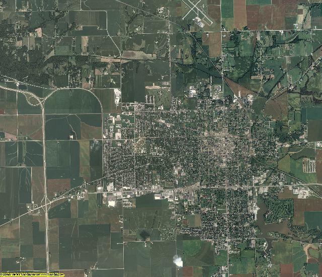 Morgan County, Illinois aerial photography