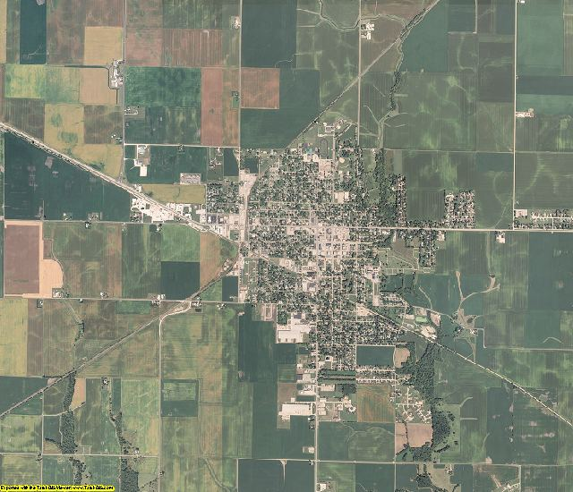 Moultrie County, Illinois aerial photography