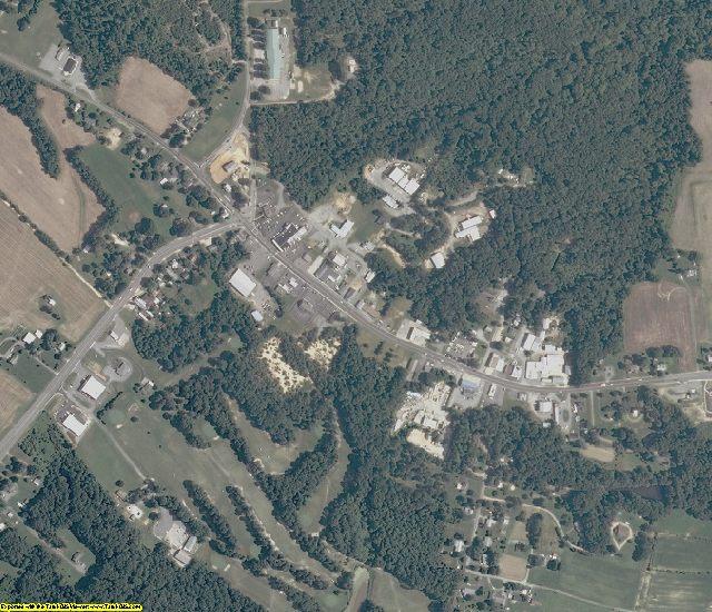 Northumberland County, VA aerial photography detail