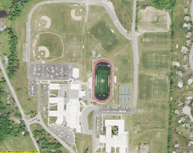 Ontario County, NY aerial photography detail