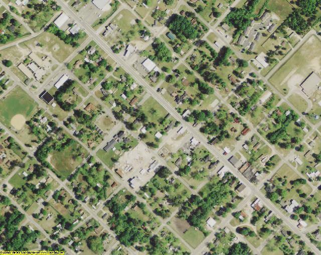 Orangeburg County, SC aerial photography detail