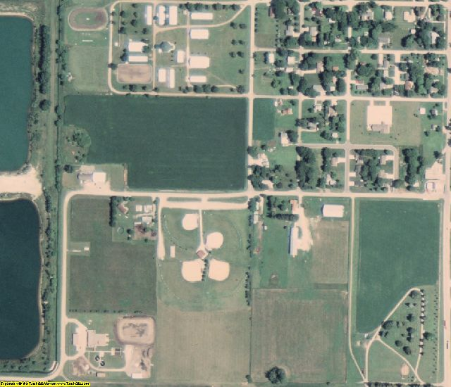 Palo Alto County, IA aerial photography detail