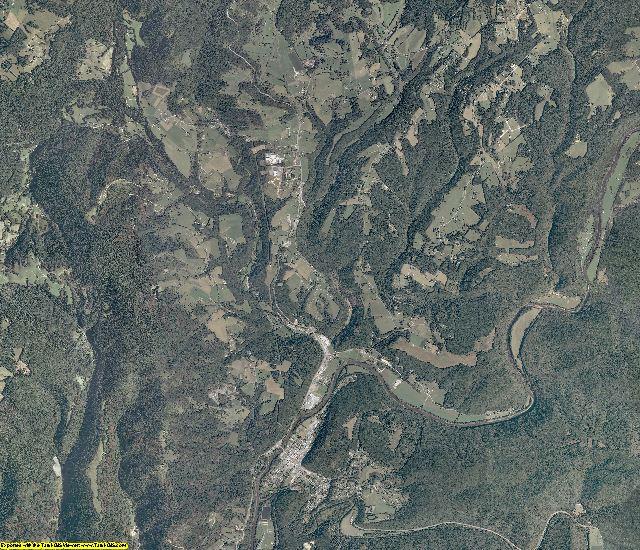 Pocahontas County, West Virginia aerial photography