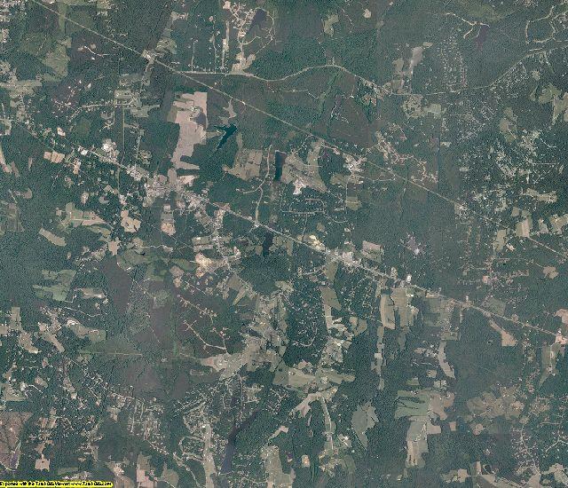 Powhatan County, Virginia aerial photography