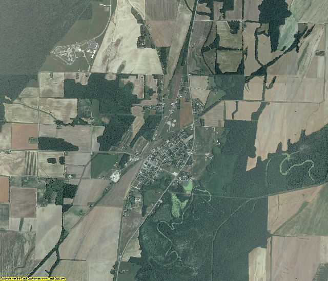 Pulaski County, Illinois aerial photography