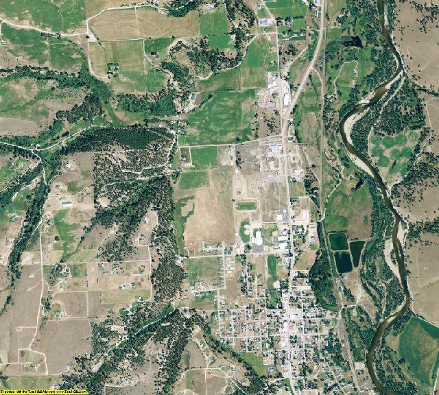 Ravalli County, Montana aerial photography