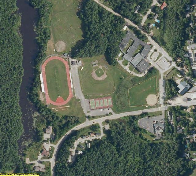 Sagadahoc County, ME aerial photography detail
