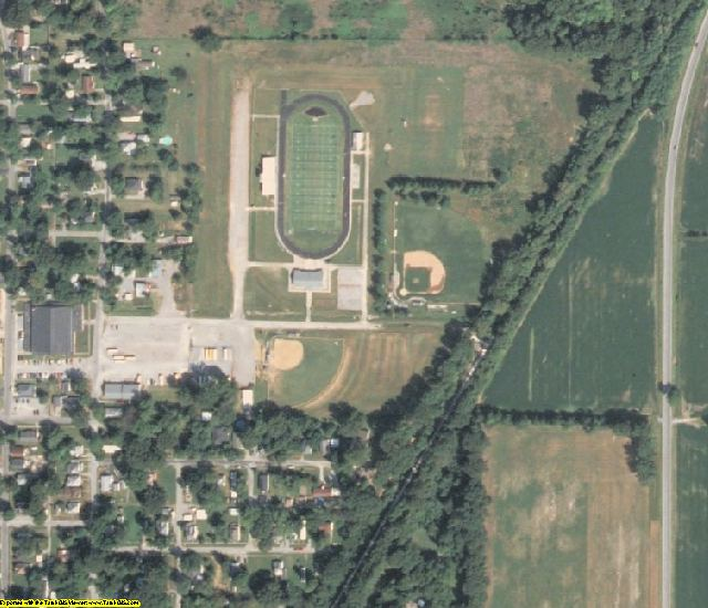 Saline County, IL aerial photography detail