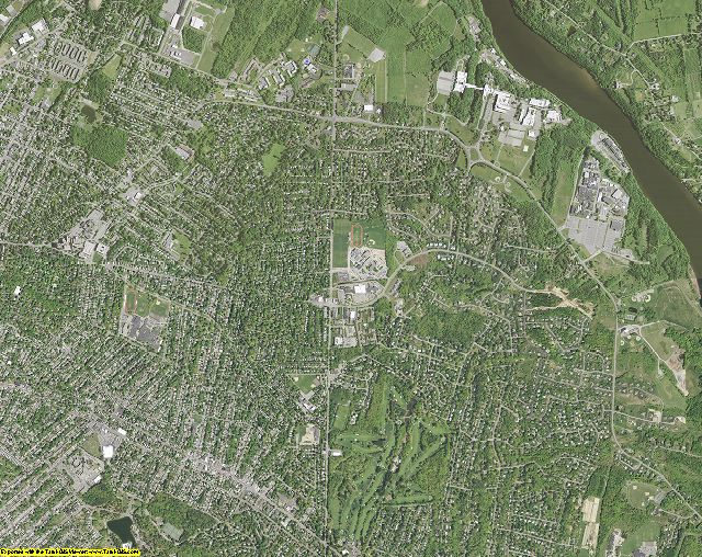 Schenectady County, New York aerial photography