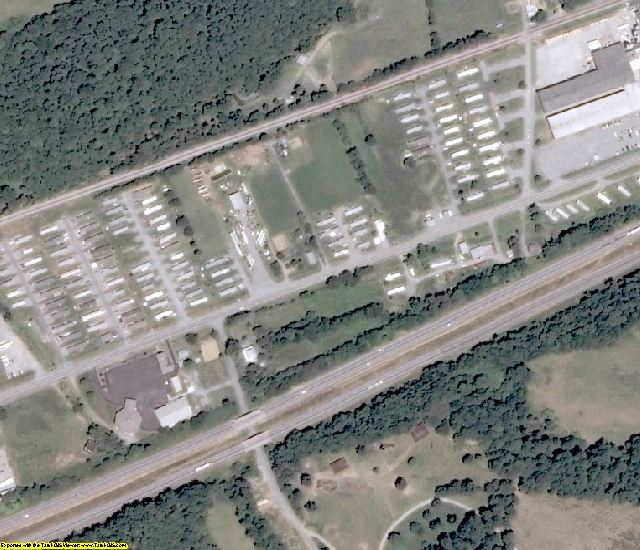 Smyth County, VA aerial photography detail