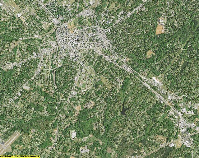 Spartanburg County, South Carolina aerial photography