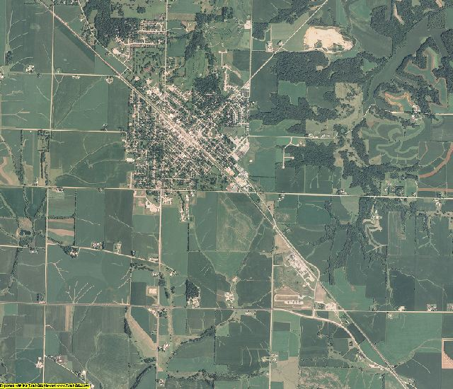 Stephenson County, Illinois aerial photography