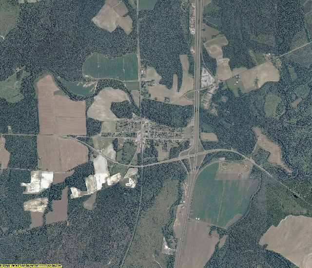 Sussex County, Virginia aerial photography