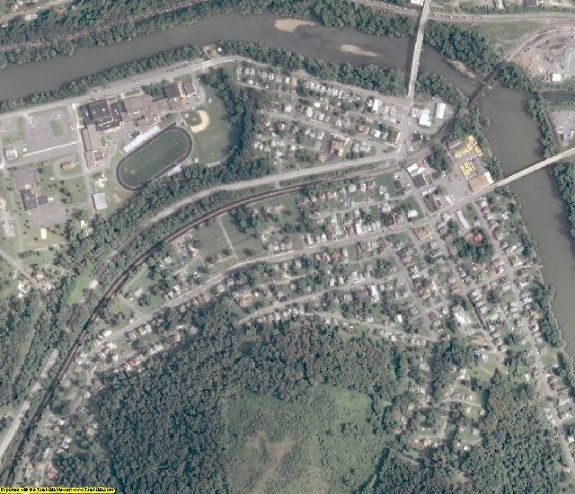 Taylor County, WV aerial photography detail