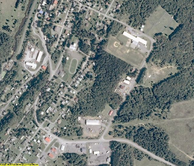 Tucker County, WV aerial photography detail