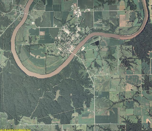Van Buren County, Iowa aerial photography