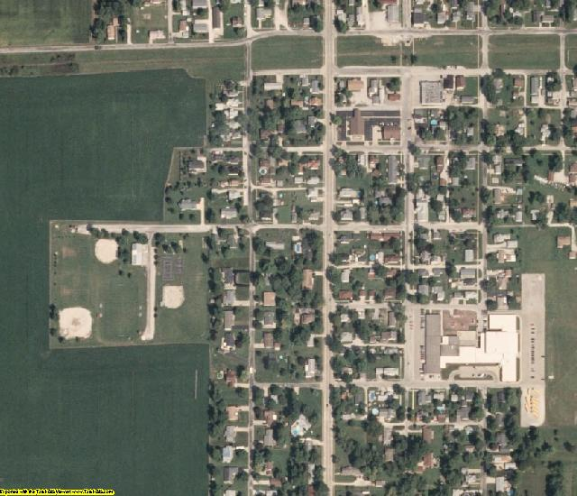 Vermilion County, IL aerial photography detail