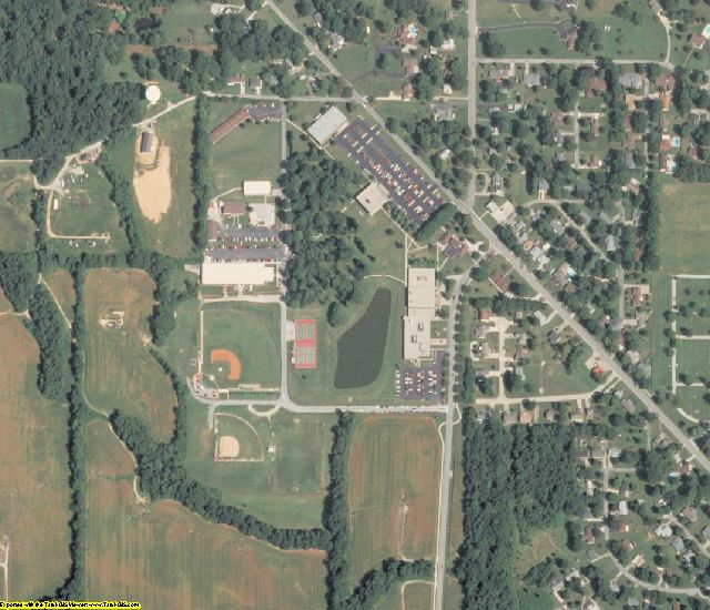 Wabash County, IL aerial photography detail