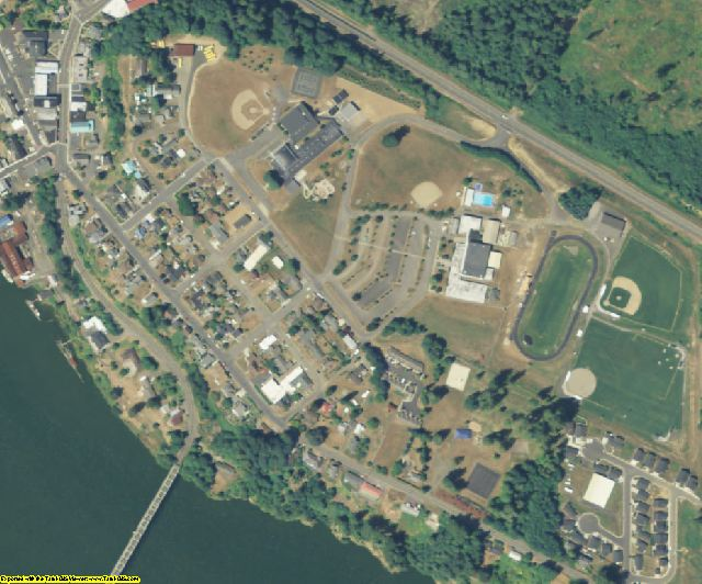 Wahkiakum County, WA aerial photography detail