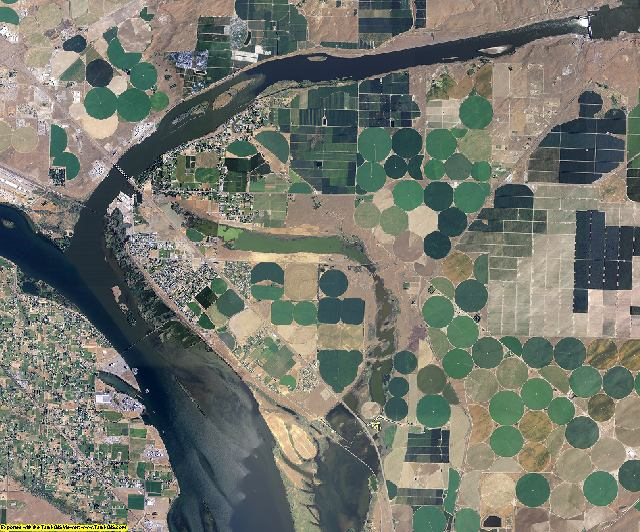Walla Walla County, Washington aerial photography