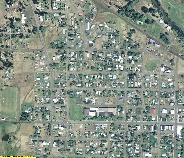 Wallowa County, OR aerial photography detail