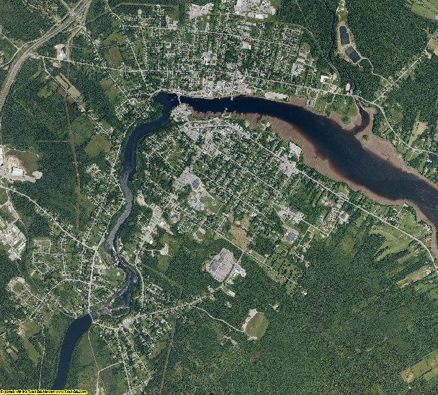 Washington County, Maine aerial photography