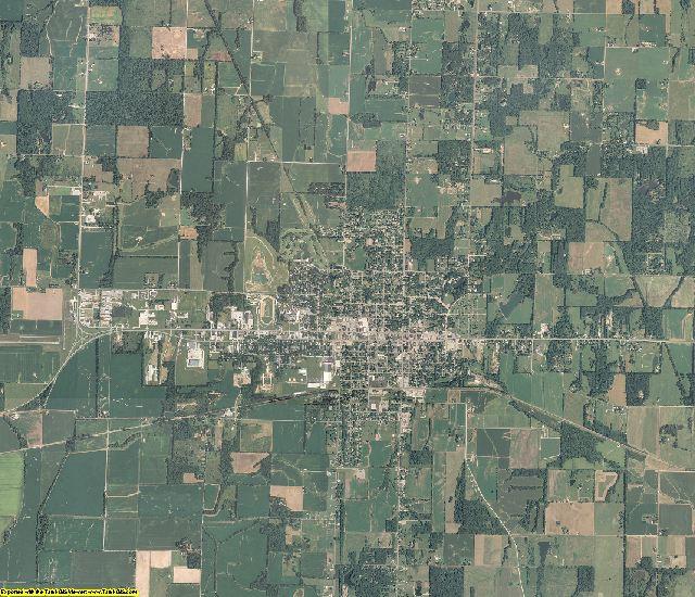 Wayne County, Illinois aerial photography