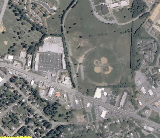 Wythe County, VA aerial photography detail