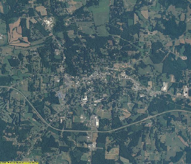 Alexander County, NC aerial photography detail