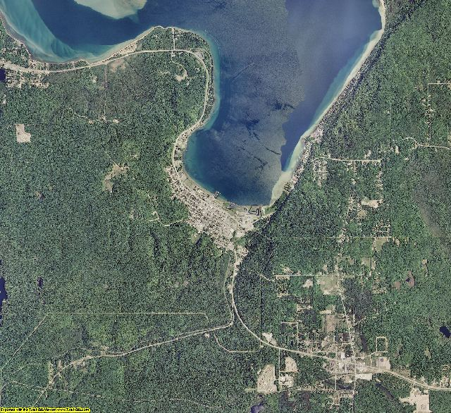 Alger County, Michigan aerial photography