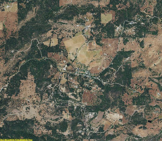 Amador County, California aerial photography