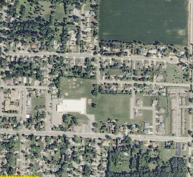 Arenac County, MI aerial photography detail