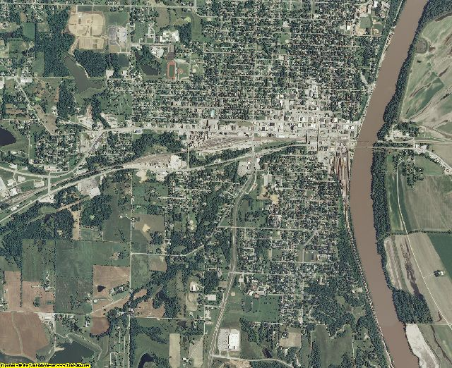 Atchison County, Kansas aerial photography