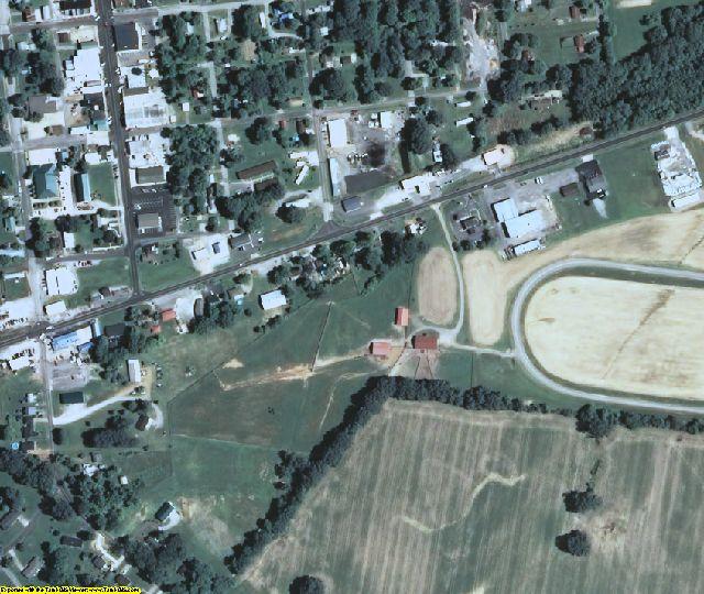 Ballard County, KY aerial photography detail