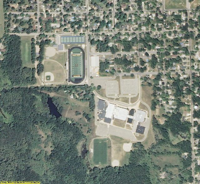 Barry County, MI aerial photography detail