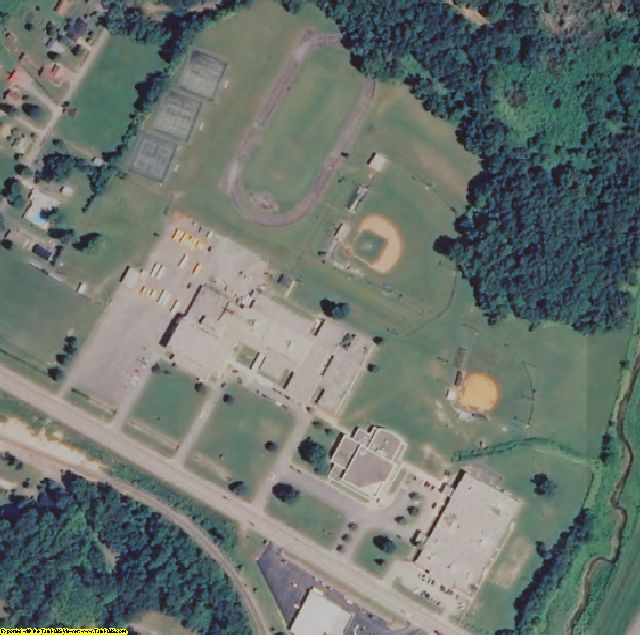 Bell County, KY aerial photography detail